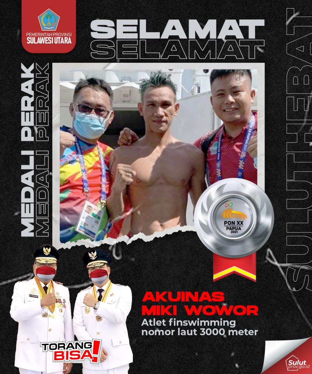 Selamat Kepada Akuinas Miki Wowor untuk Perolehan Medali Perak POM XX PAPUA 2021